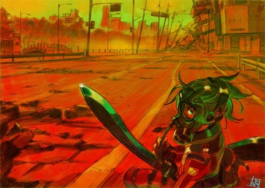 Ilustación de Kyoda para la novela