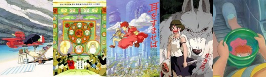 Porco, Pompoko, Whisper of the Heart, Mononoke y Ponyo